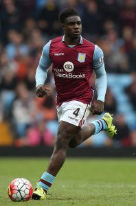 BIRMINGHAM, ENGLAND - OCTOBER 03: Micah Richards of Aston Villa in action during the Barclays Premier League match between Aston Villa and Stoke City at Villa Park on October 3, 2015 in Birmingham, United Kingdom. (Photo by Ben Hoskins/Getty Images)