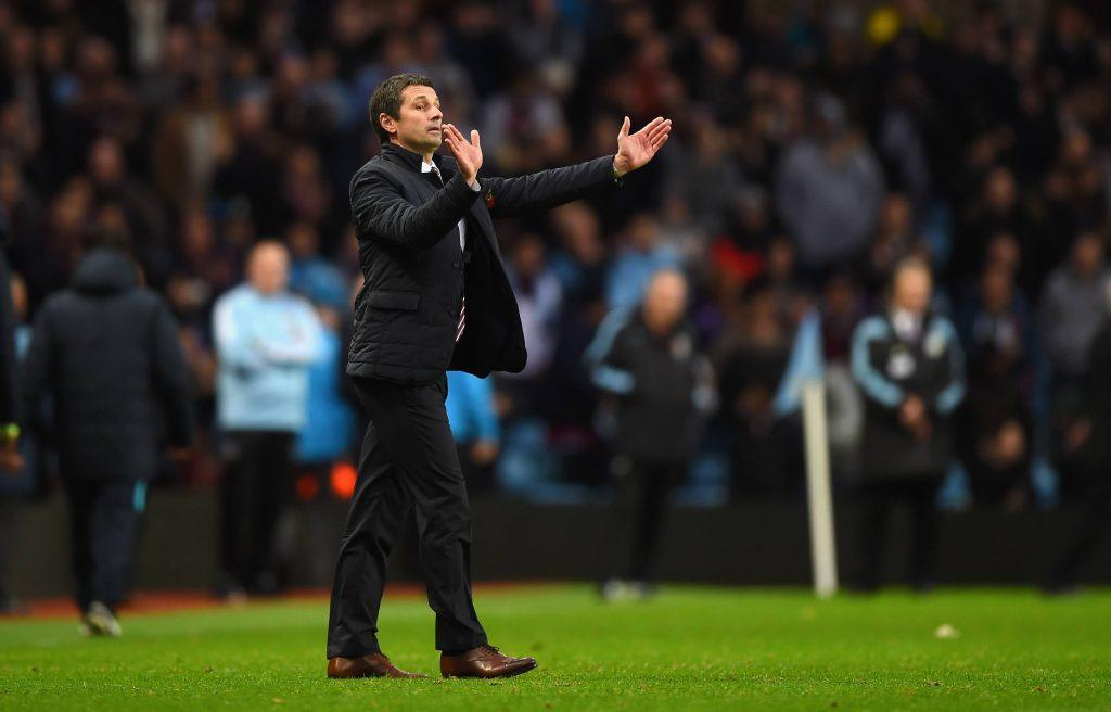 BIRMINGHAM, ENGLAND - NOVEMBER 08: Remi Garde, Manager of Aston Villa gestures during the Barclays Premier League match between Aston Villa and Manchester City at Villa Park on November 8, 2015 in Birmingham, England. (Photo by Shaun Botterill/Getty Images)