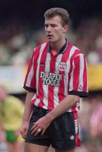 English footballer Alan Shearer of Southampton FC, 7th March 1992. (Photo by Simon Bruty/Getty Images)