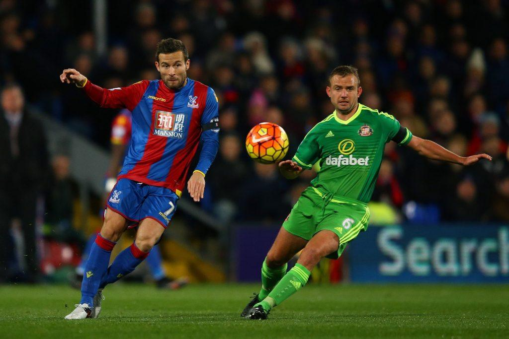 during the Barclays Premier League match between Crystal Palace and Sunderland at Selhurst Park on November 23, 2015 in London, England.