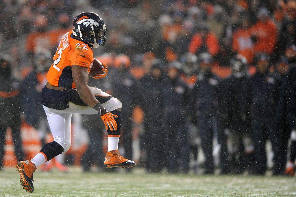 Broncosin C.J. Anderson toimi takuumiehenä Patriotsia vastaan (Getty)