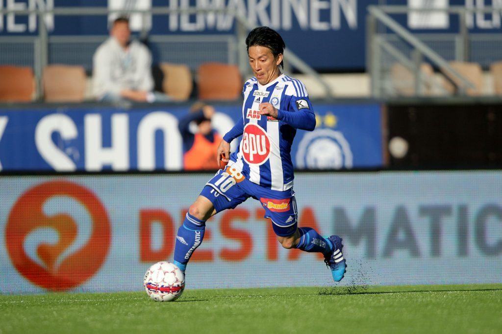 Tanaka kuului HJK:n viime kauden harvoihin valopilkkuihin. Kuva: AOP