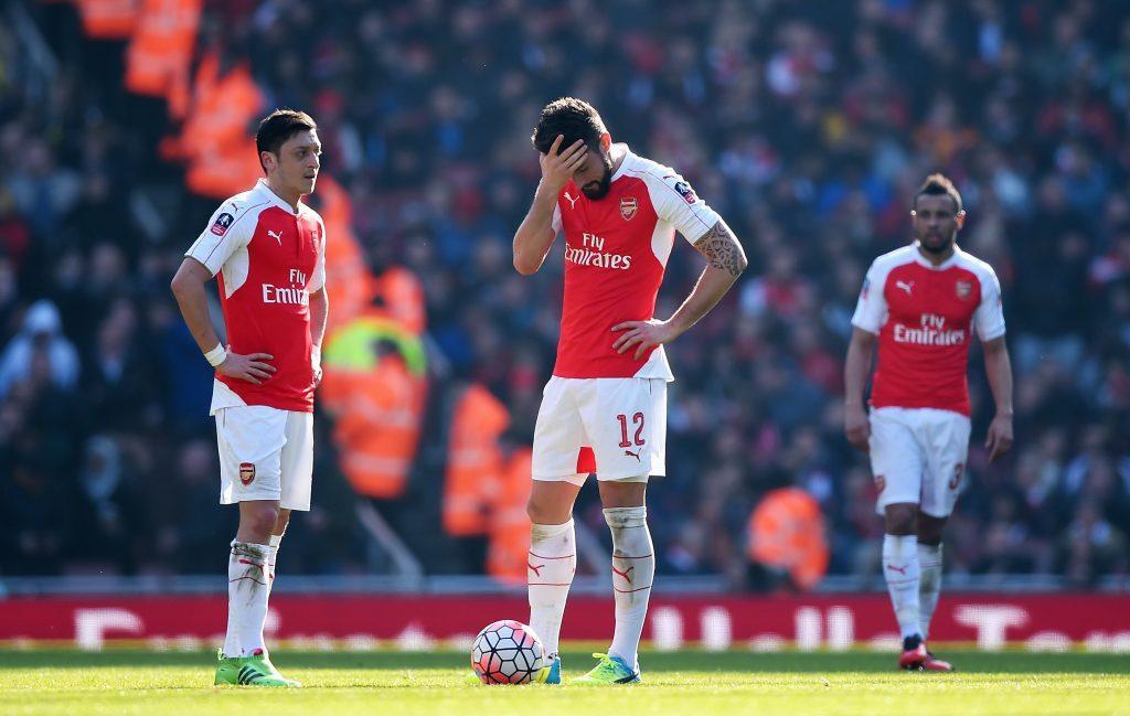 Arsenalin tuska on käsin kosketeltavaa. Kuva: Getty