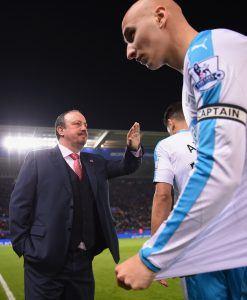 Benitez johti joukkojaan ensi kertaa Leicesterissä. Kuva: Getty