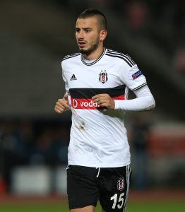 ISTANBUL, TURKEY - SEPTEMBER 18: Oguzhan Ozyakup of Besiktas in action during the UEFA Europa League Group C match between Besiktas JK and Asteras Tripolis FC at the Ataturk Olympic Stadium in Istanbul, on September 18, 2014 in Istanbul,Turkey. (Photo by Burak Kara/Getty Images)