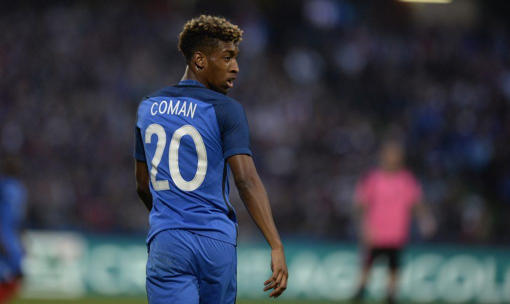 METZ, FRANCE - JUNE 04: Kingsley Coman of France reacts during the International Friendly between France and Scotland on June 4, 2016 in Metz, France. (Photo by Daniel Kopatsch/Getty Images)