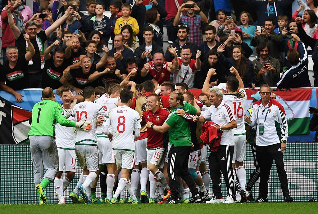 Unkarin kisat ovat toistaiseksi sujuneet erinomaisesti. Alkulohkon päätöspelissä joukkue kohtaa Portugalin. Kuva: Getty