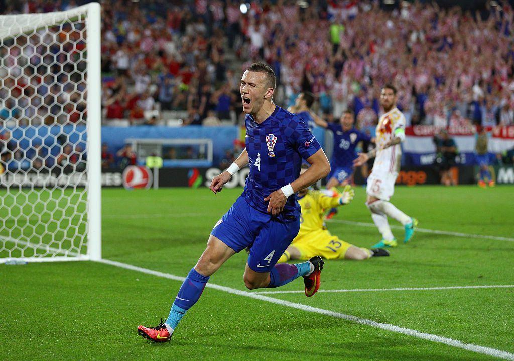 Rakitic ratkaisi Kroatialle lohkovoiton viimeistelemällä joukkueensa toisen maalin Espanjaa vastaan. Kuva: Getty