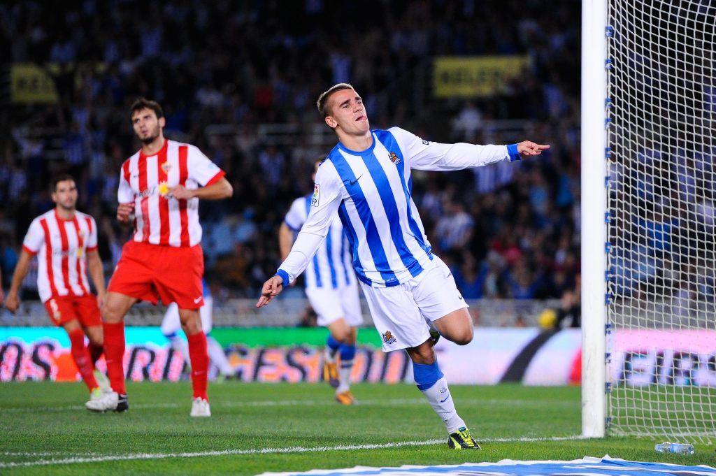 Griezmann kouluttiin jalkapalloilijaksi Real Sociedadissa, jossa mies vietti yhdeksän kautta. (Getty).