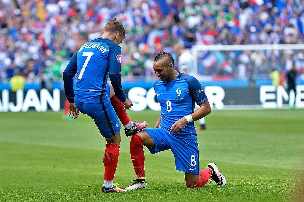 Antoine Griezmann on kolmen maalin myötä Ranskan paras maalintekijä. Dimitri Payet on säestänyt hyvin kahdella täysosumalla. Kuva: Getty