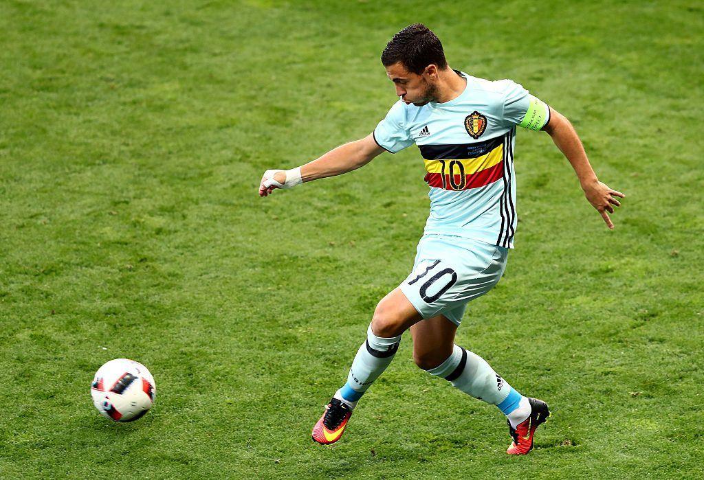 Eden Hazard johtaa turnauksen syöttötilastoa kolmen maaliin johtaneen syötön myötä. Kuva: Getty
