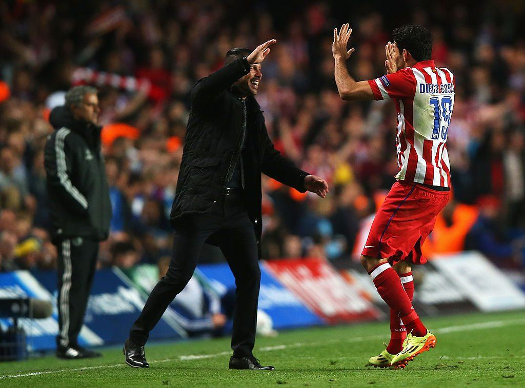 Costan toistaiseksi viimeinen kausi Atléticossa päättyi La Ligan mestaruuteen. Kuva: Getty