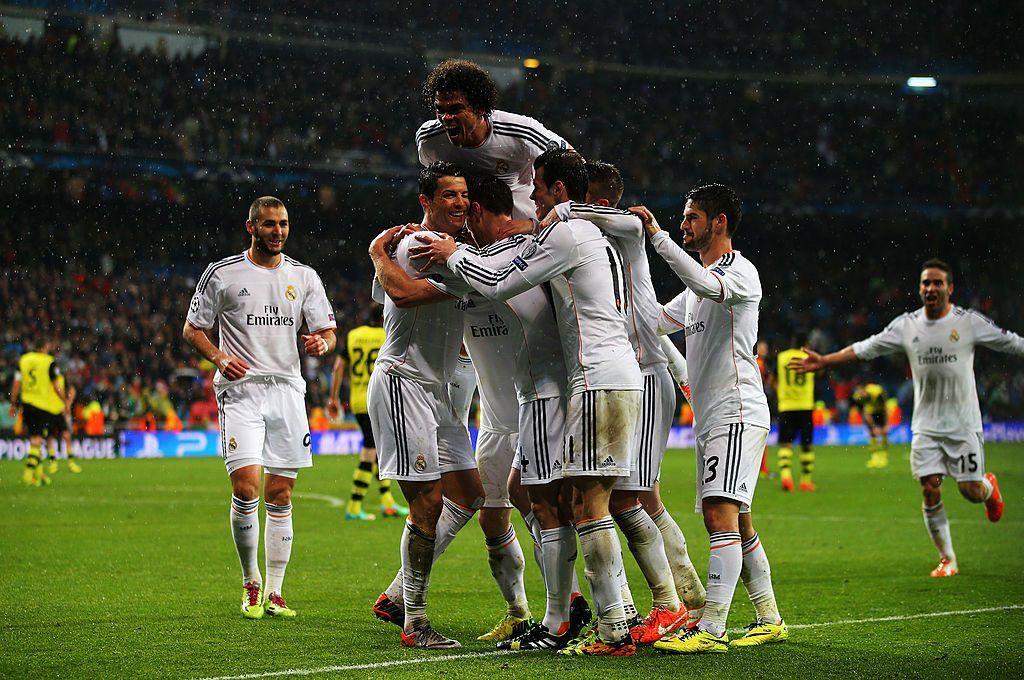 Real Madridilla oli aihetta juhlaan joukkueiden kohdattua edellisen kerran pudotuspeleissä. Kuva: AOP