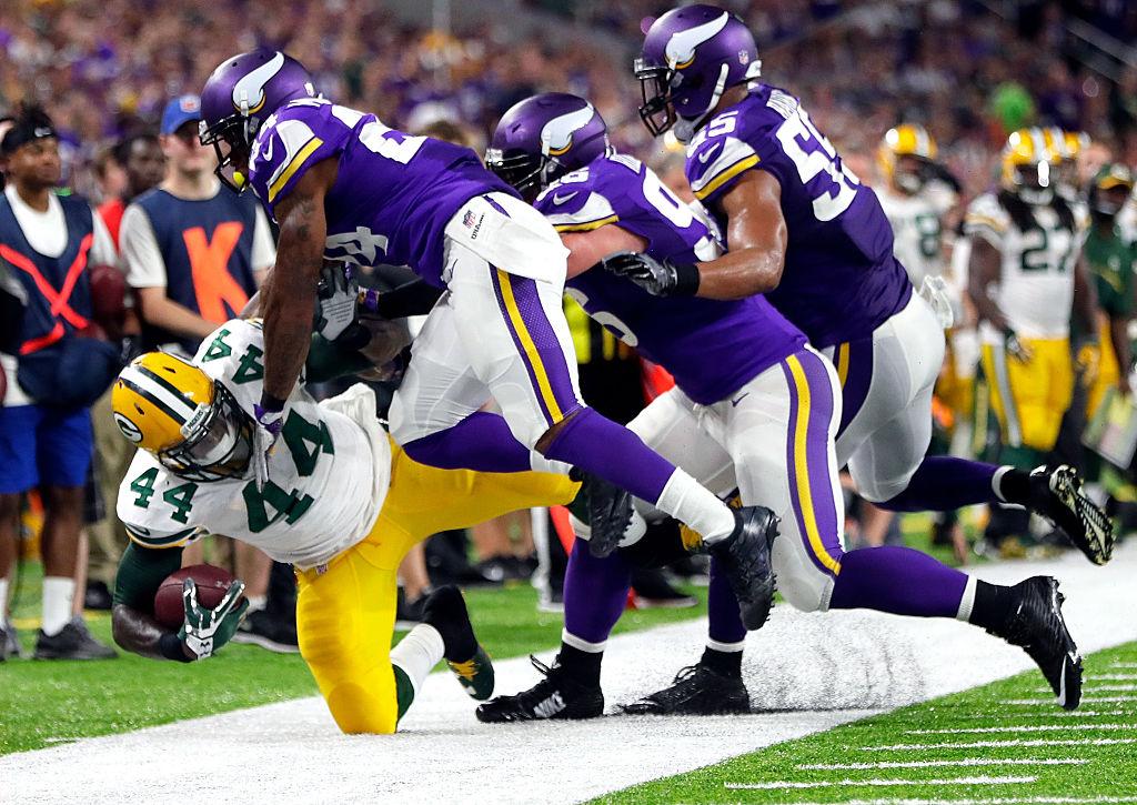 Vikings-puolustus loisti ottelussa Packersia vastaan ja samaa ilmettä kaivataan läpi koko runkosarjan. (Getty)