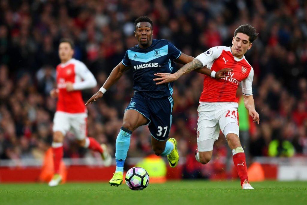 Adama Traore ja Boro tylsyttivät Arsenalin. Kuva: Getty