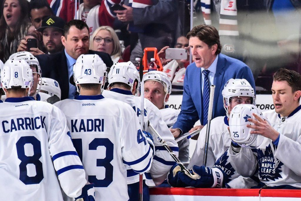 Mike Babcockin jos jonkun pitäisi saada Maple Leafs voittamaan. Kuva: Getty
